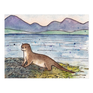 otter of the loch postcard