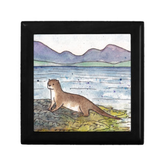 otter of the loch small square gift box