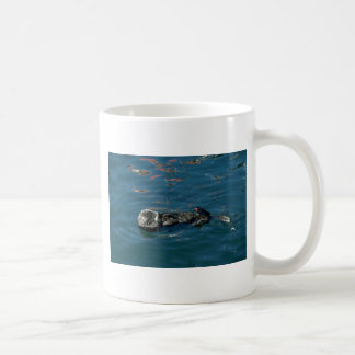 Otter On Back In Water Coffee Mugs