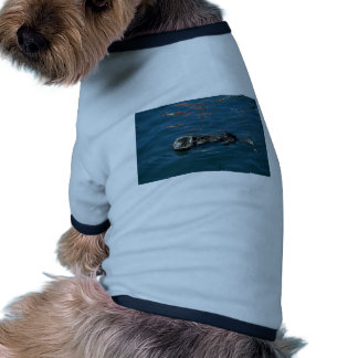 Otter On Back In Water Dog Shirt