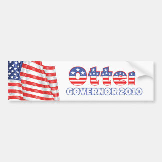 Otter Patriotic American Flag 2010 Elections Car Bumper Sticker
