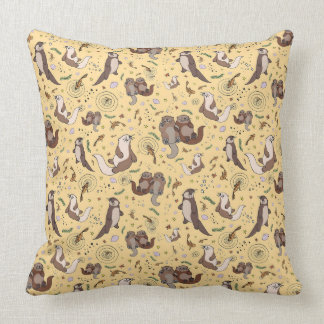 Otter Pattern Cushion