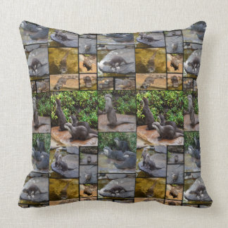 Otter Photo Collage, Large Throw Cushion. Cushion