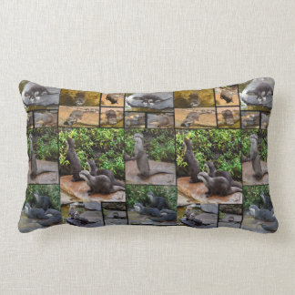 Otter Photo Collage, Lumbar Cushion. Lumbar Cushion
