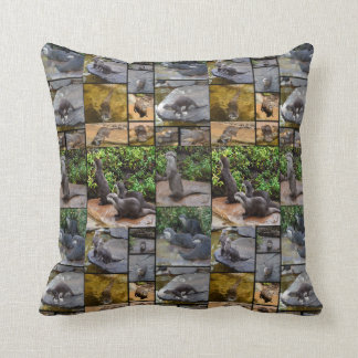 Otter Photo Collage, Throw Cushion. Cushion