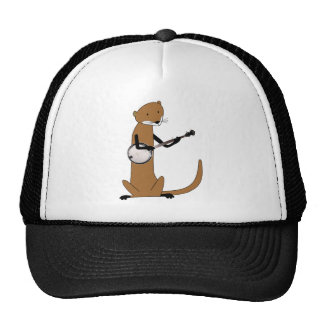 Otter Playing the Banjo Mesh Hats