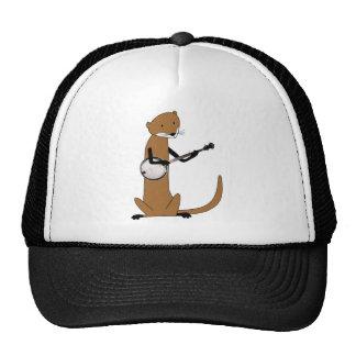 Otter Playing the Banjo Mesh Hats