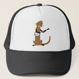 Otter Playing the Banjo Trucker Hat