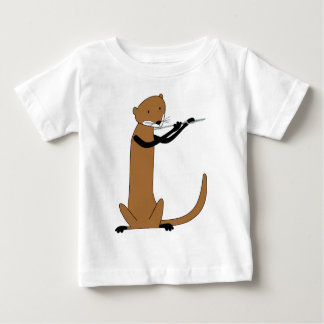 Otter Playing the Flute Baby T-Shirt