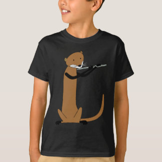 Otter Playing the Flute T-Shirt