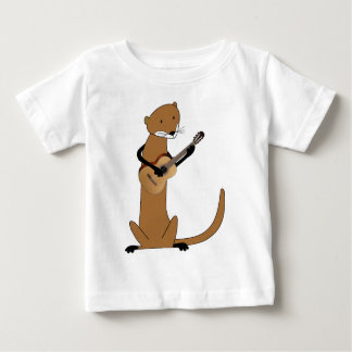 Otter Playing the Guitar Baby T-Shirt
