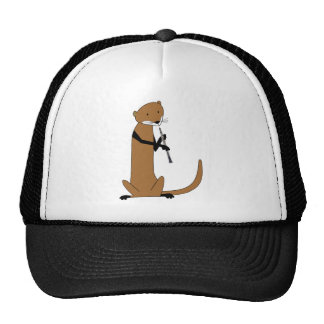 Otter Playing the Oboe Trucker Hats