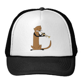 Otter Playing the Trumpet Mesh Hats