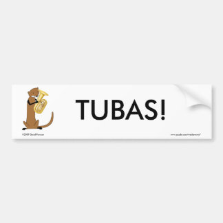 Otter Playing the Tuba Bumper Sticker
