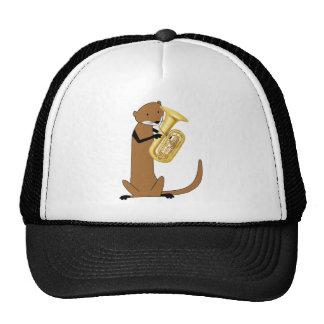 Otter Playing the Tuba Mesh Hats