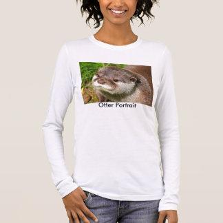Otter Portrait Long Sleeve T-Shirt