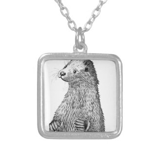 Otter Silver Plated Necklace