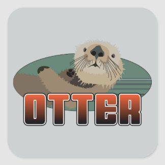 OTTER Square Stickers