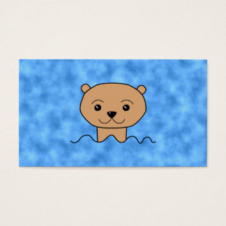 Otter Swimming. Business Card