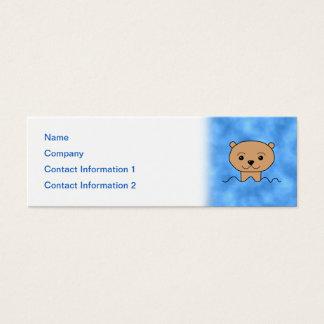 Otter Swimming. Mini Business Card
