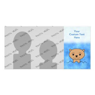 Otter Swimming. Customized Photo Card