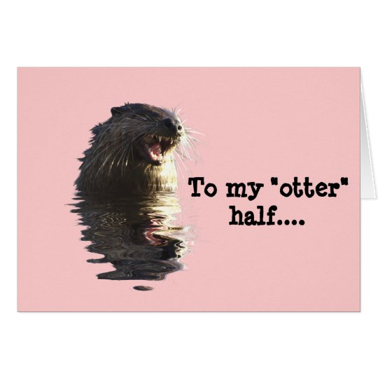 OTTER Valentine's Day Card