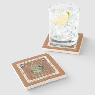 Otter  -Woman Medicine- Marble Coaster