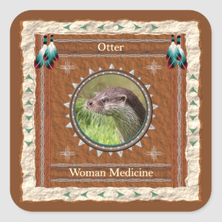 Otter  -Woman Medicine- Stickers - 20 per sheet