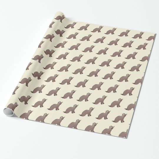 Otter wrapping paper