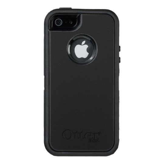 Custom OtterBox Apple iPhone SE/5/5s Defender Series Case, Black