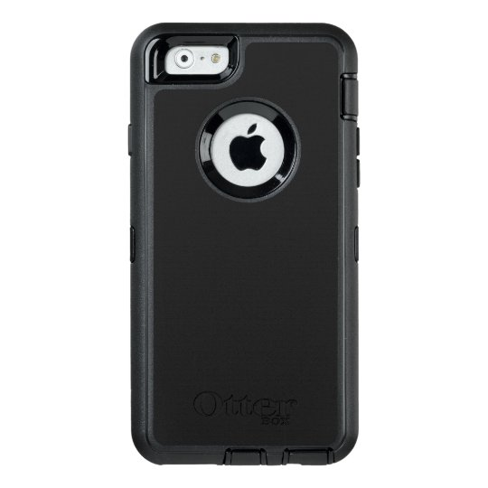 Custom OtterBox Apple iPhone 6/6s Defender Series Case, Black