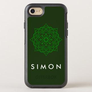 Otterbox Emerald Damask pattern on green iPhone
