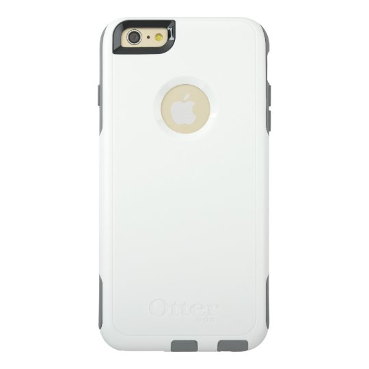 Custom OtterBox Apple iPhone 6 Plus Commuter Series Case, White