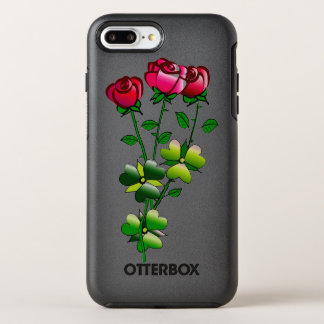 Otterbox with Roses Illustration OtterBox Symmetry iPhone 8 Plus/7 Plus Case