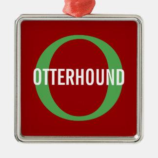 Otterhound Breed Monogram Silver-Colored Square Decoration