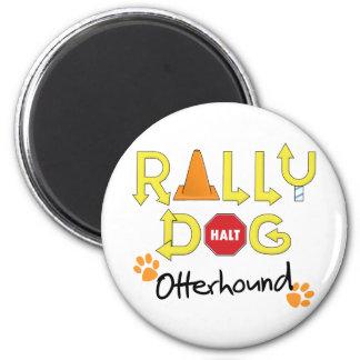 Otterhound Rally Dog 6 Cm Round Magnet