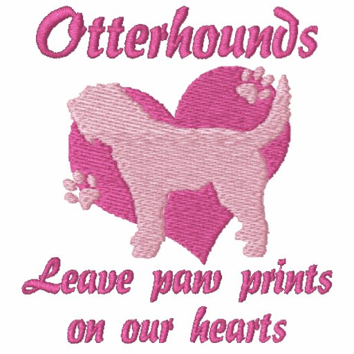 Otterhounds Leave Paw Prints Embroidered Shirt