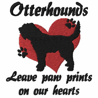 Otterhounds Leave Paw Prints Embroidered T-Shirt