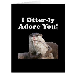 Otterly Adore Big Greeting Card