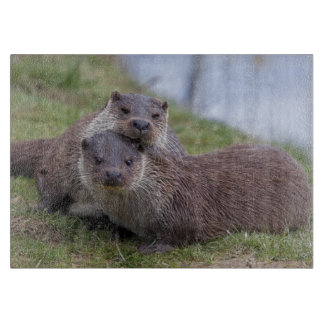 Otterly in Love Rectangular Cutting Board