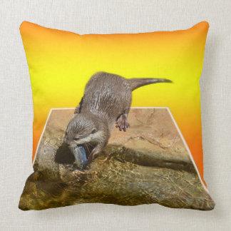 Otterly Orange, Otter, Large Lounge Cushion