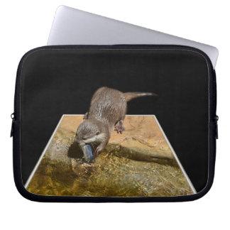 Otterly Tasty Fish, Otter, 10 inch Laptop Sleeve. Laptop Sleeve