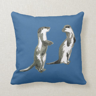 otters American Mojo throw pillow
