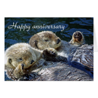 Otters anniversary card