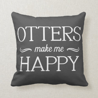 Otters Happy Pillow - Assorted Styles & Colors