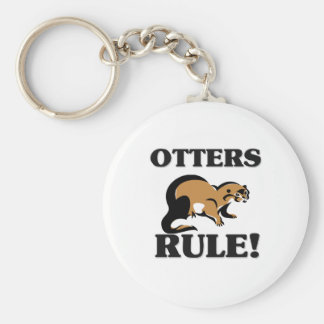 OTTERS Rule! Basic Round Button Key Ring