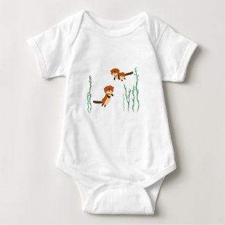 Otters Swimming Baby Bodysuit