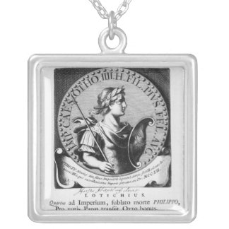 Otto IV  of Brunswick Silver Plated Necklace