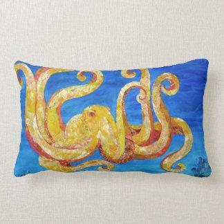 Otto - Octopus collage Lumbar Cushion