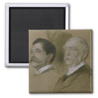 Otto von Bismarck and his Son Herbert Fridge Magnets